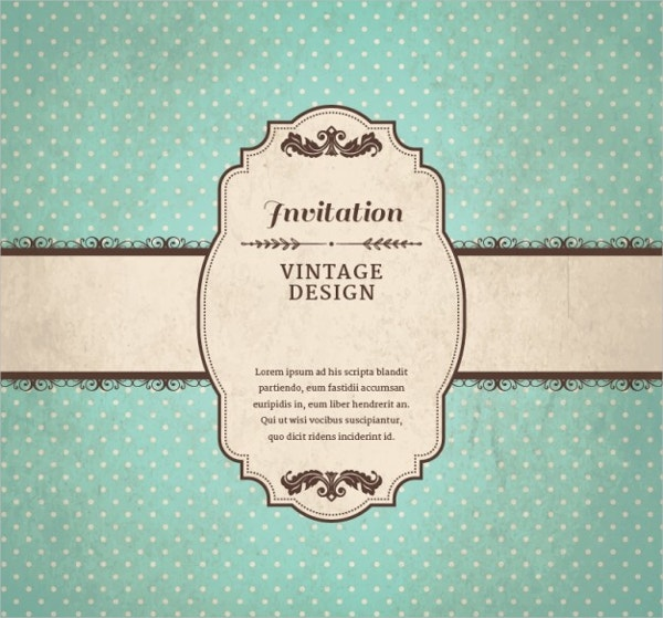 Free Vector Vintage Invitation Template