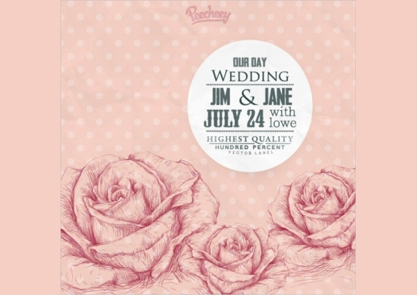 Beautiful Vintage Wedding Invitation Template Design