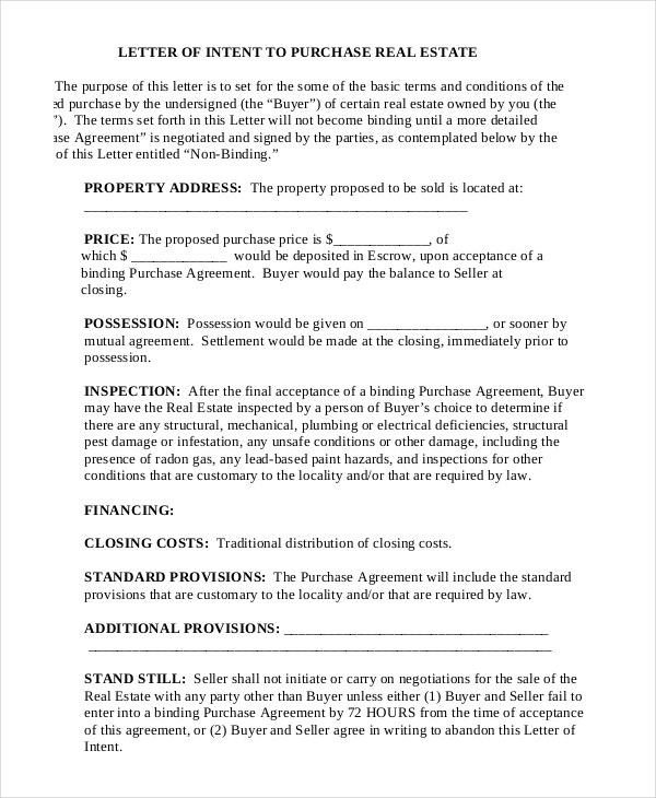 Letter of Intent - 9+ Free Word, PDF Documents Download | Free ...
