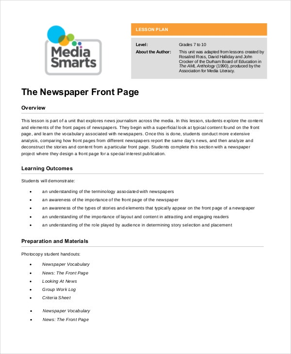 Newspaper Template - 9+ Free Word, Pdf Documents Download | Free