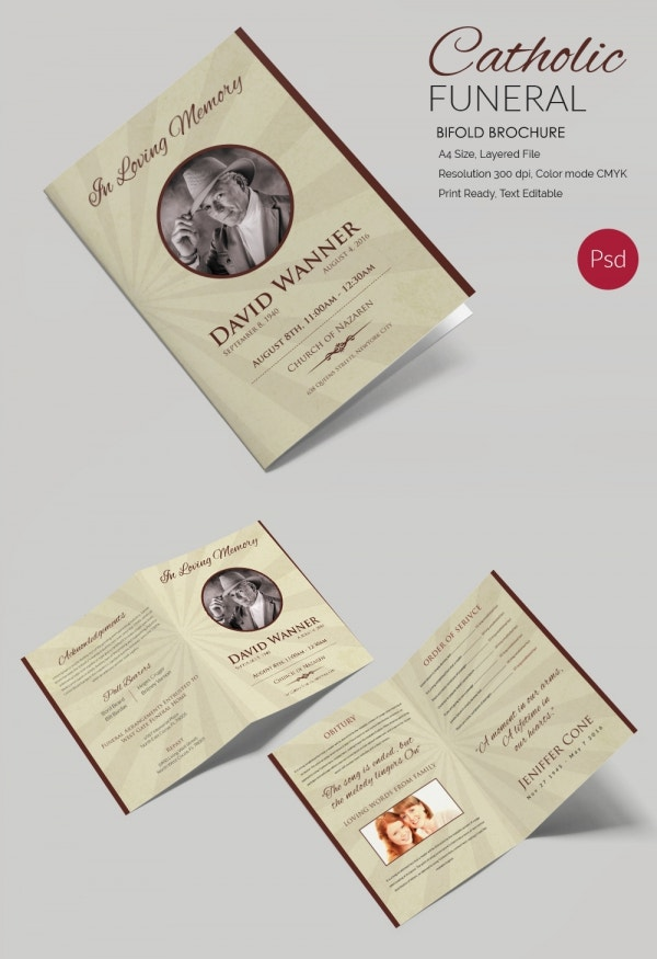 Catholic Bi-Fold Brochure Mockup Template