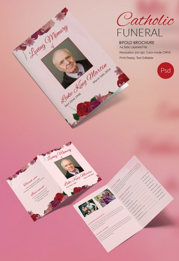 Affordable Catholic Bi-Fold Brochure PSD Design
