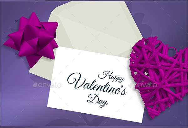 valentine greeting card mockup