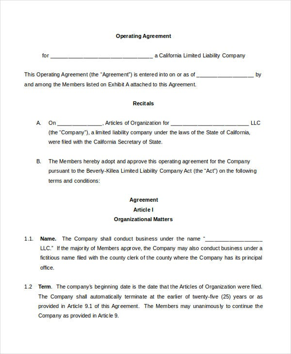 Agreement Template - 11+ Free Word, Pdf Documents Download | Free