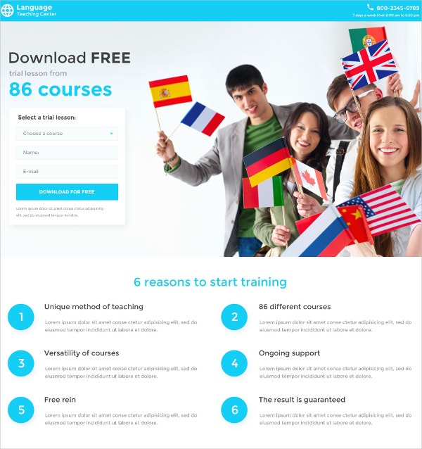 School Responsive Landing Page CSS WebsiteTemplate $14
