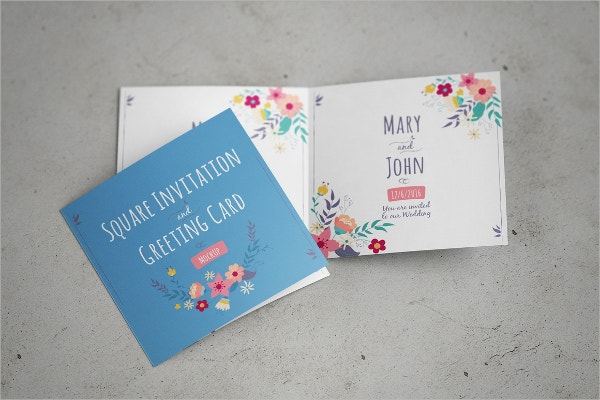 Lovely Realistic Greeting Card Mockup
