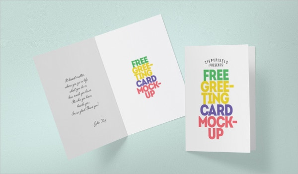 Greeting Card Mockups  Free Psd Ai Vector Eps Format