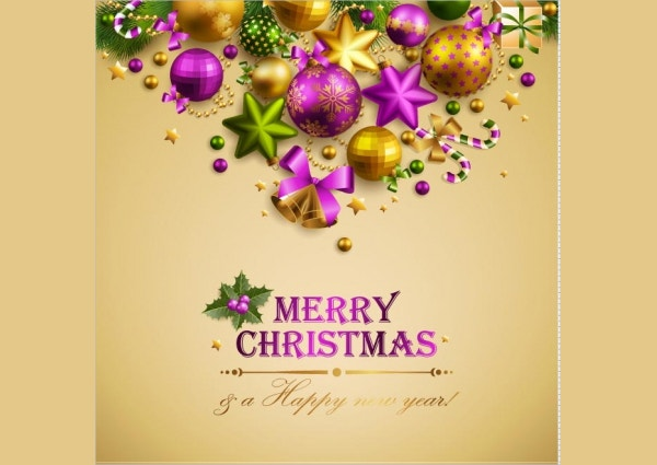 christmas greeting card mockup with stars