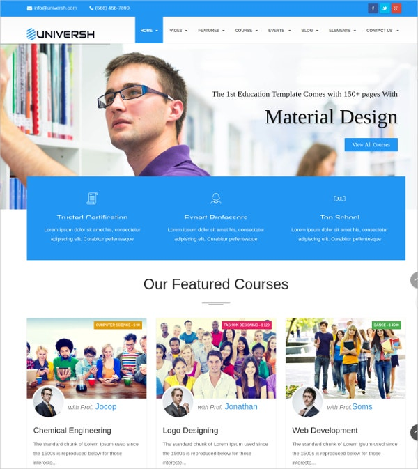 kid school joomla website template 48