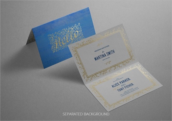Photorealistic Greeting Card Mockup
