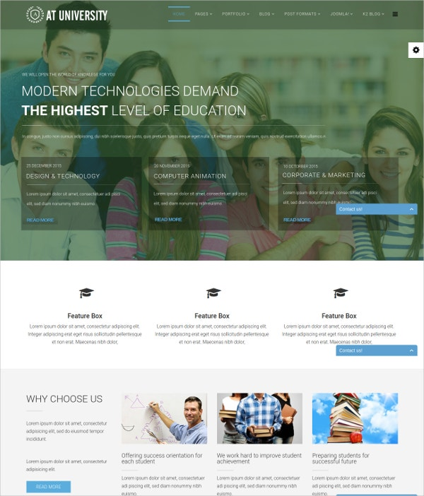 university joomla website template 19
