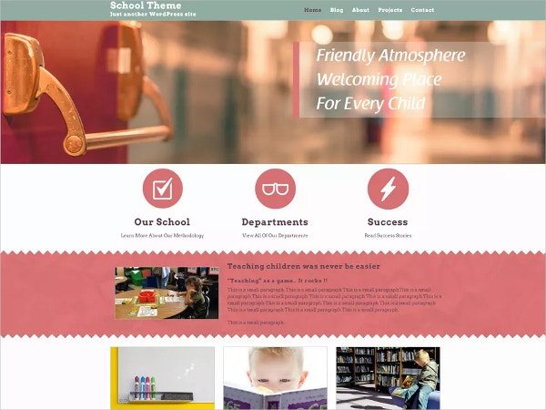 custom responsive school wordpress website theme