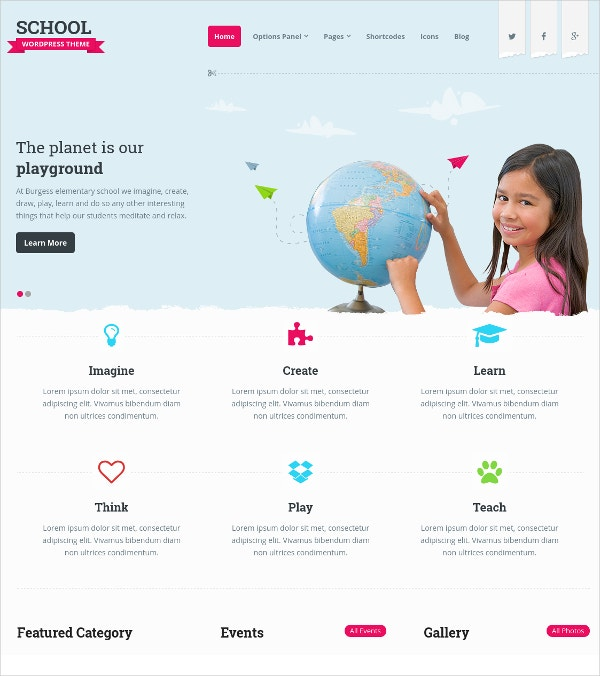 perfect wordpress website theme for school 59