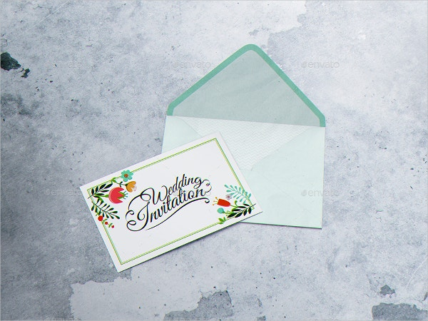 Invitation & Envelope Mockup