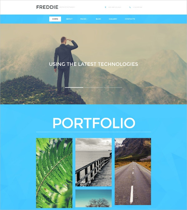 Photographer & Latest Technology Portfolio Responsive Moto CMS Website Template $199