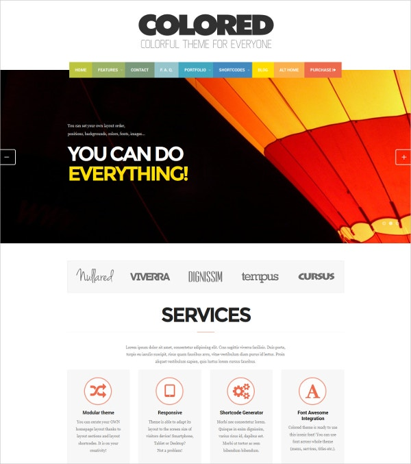 Photo & Portfolio Modular Website Theme $49