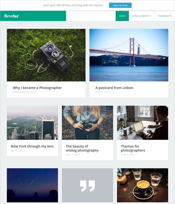 WP Website Theme for Photo Blog, Personal Journal