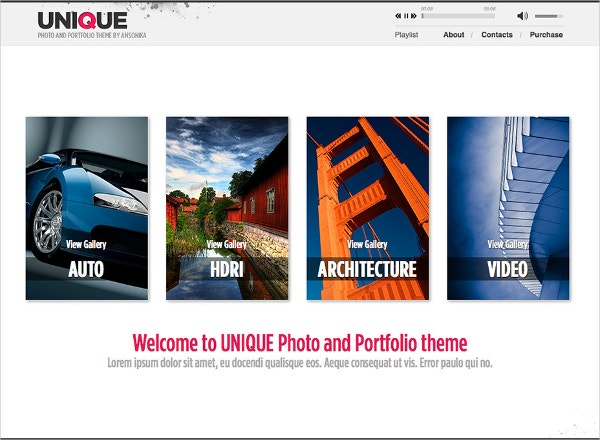modern photoportfolio website theme 14