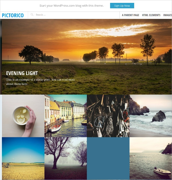 photo blogging portfolio wordpress website theme