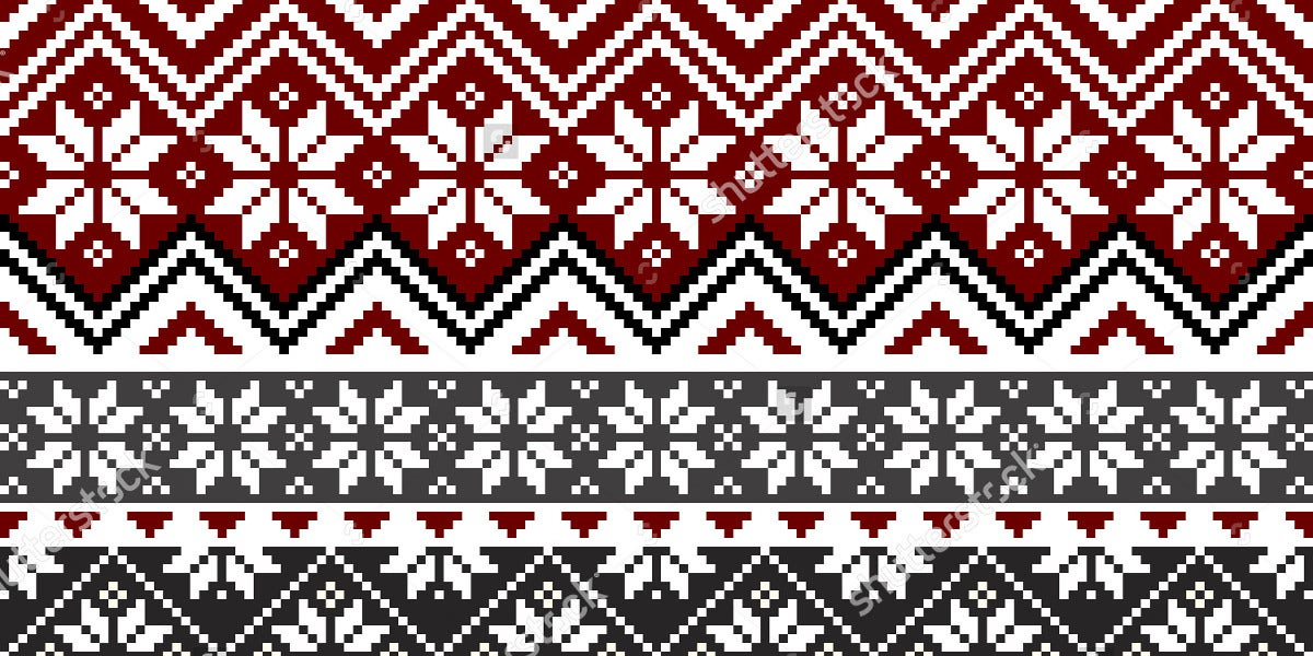 traditional snowflake pattern