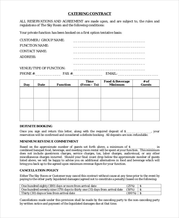 catering contract template1