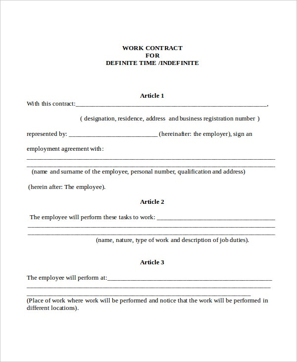 Contract Template   Free Word Pdf Document Downloads  Free
