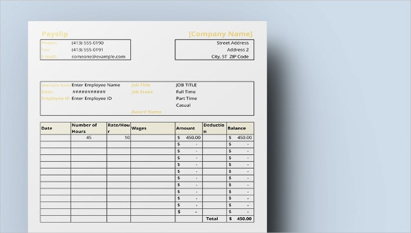 Freebie of the Day - Payslip Template | Free & Premium Templates