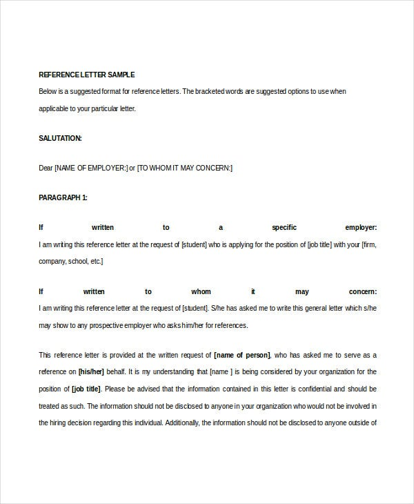 Job Recommendation Letter. Reference Letter Template Best