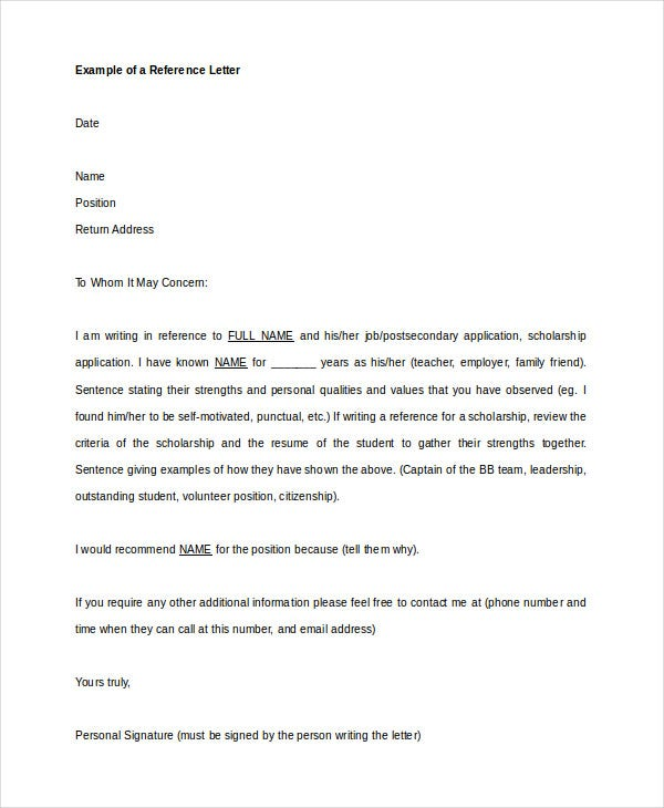 Recommendation Letter - 9+ Free Word, Pdf Documents Download