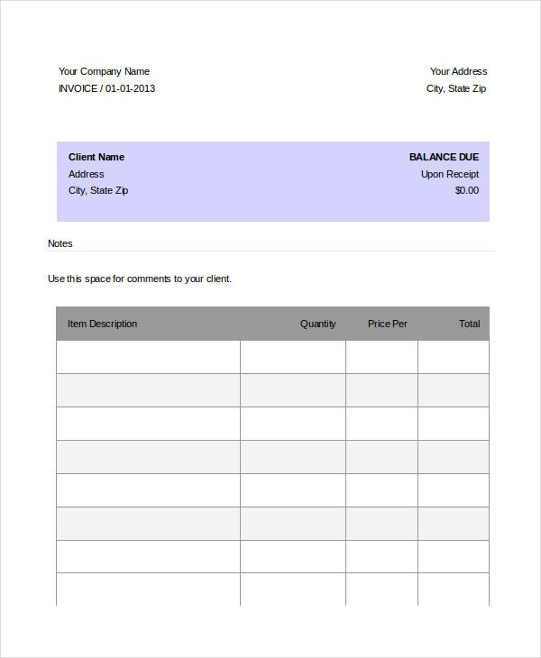 Dj Invoice Template   Free Word Pdf Documents Download  Free