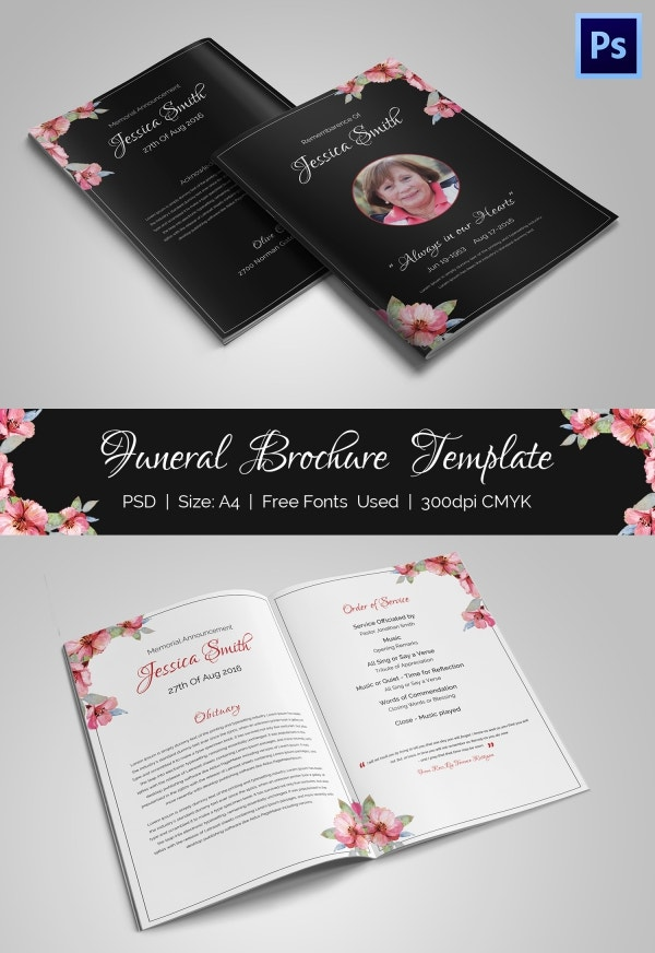 Perfect Funeral Bi-fold Brochure Template