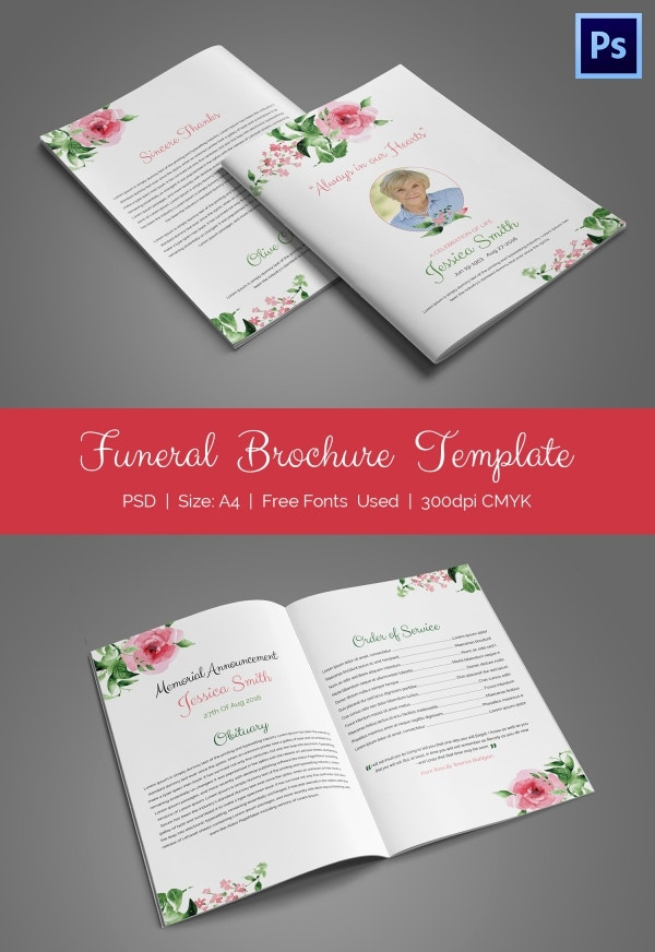 Funeral BiFold Brochure Templates  Psd Format Download  Free