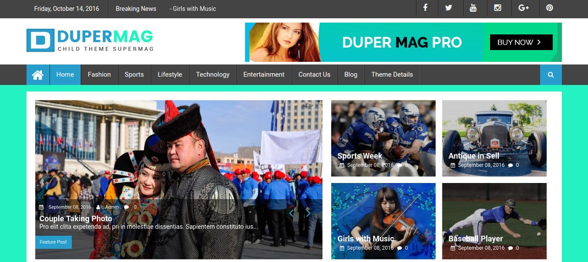 News & Magazine Website Theme
