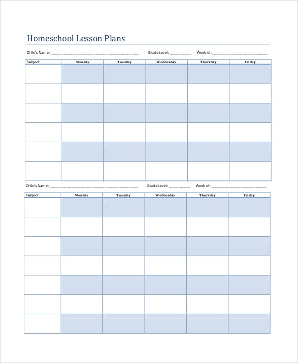 Printable Lesson Plan 7 Free Word Pdf Documents Download Free