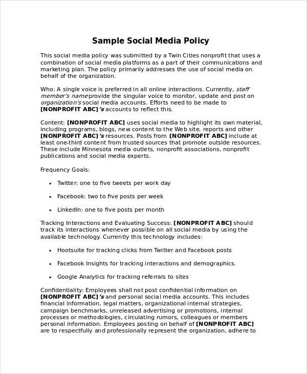 Policy Template - 10+ Free Word, PDF Document Downloads | Free ...