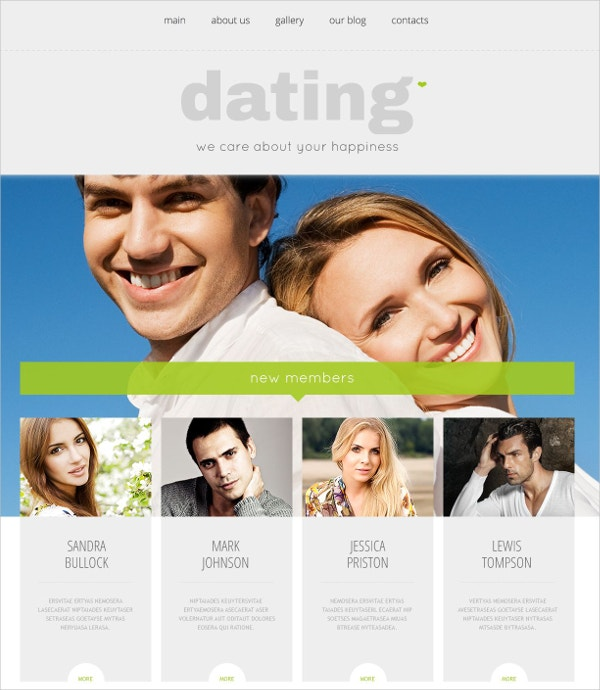 Dating Responsive WordPress Website Theme $75
