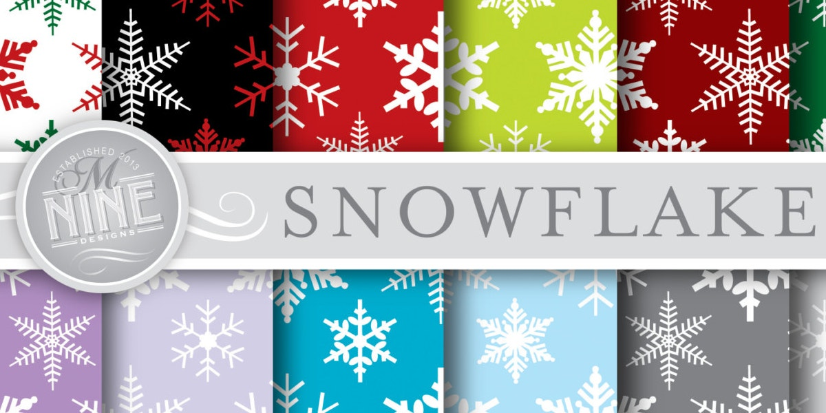 snowflake digital pattern pack1