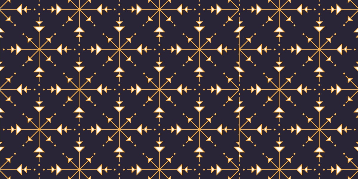 Snowflake & Geometric Pattern