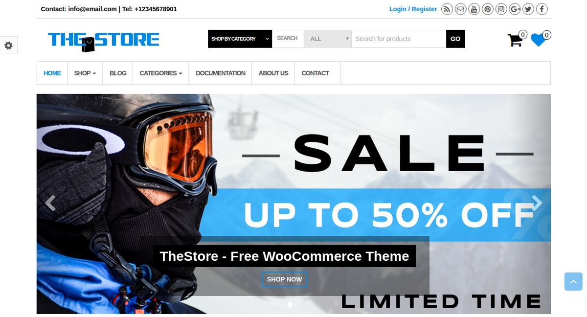 Sports & Technology Store WordPress Theme