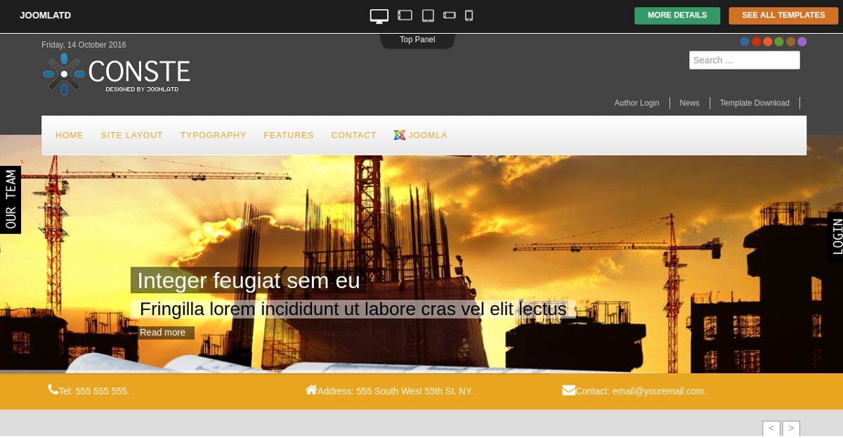 Free Construction Joomla Theme