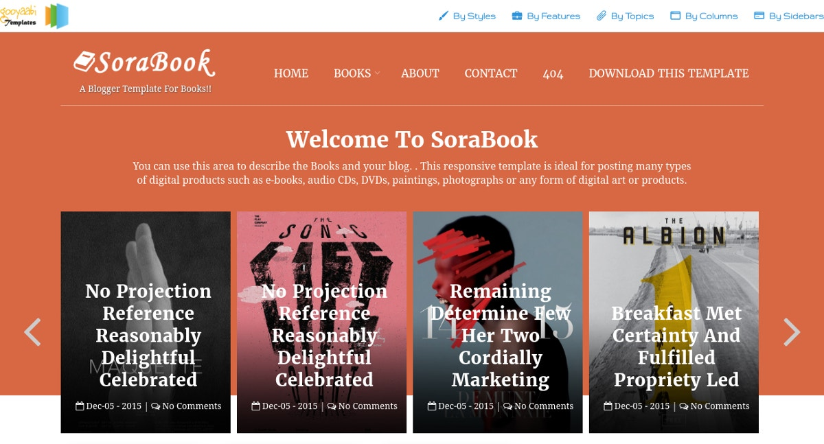 eBooks,Photographs Blog Theme
