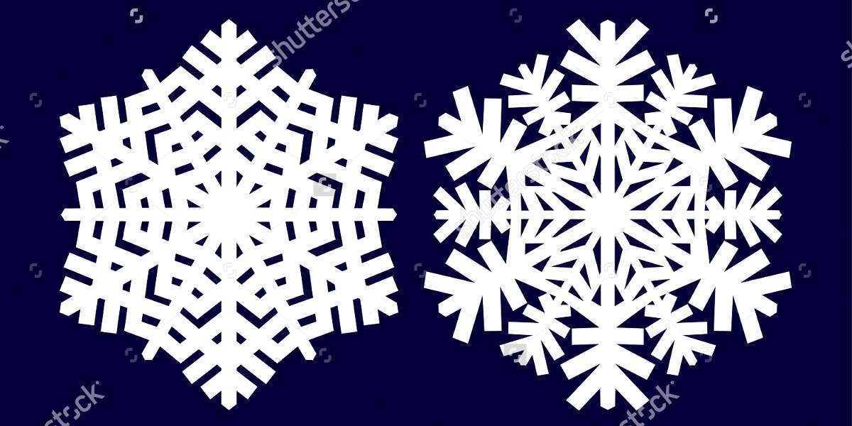 Decorative Abstract Snowflake Pattern