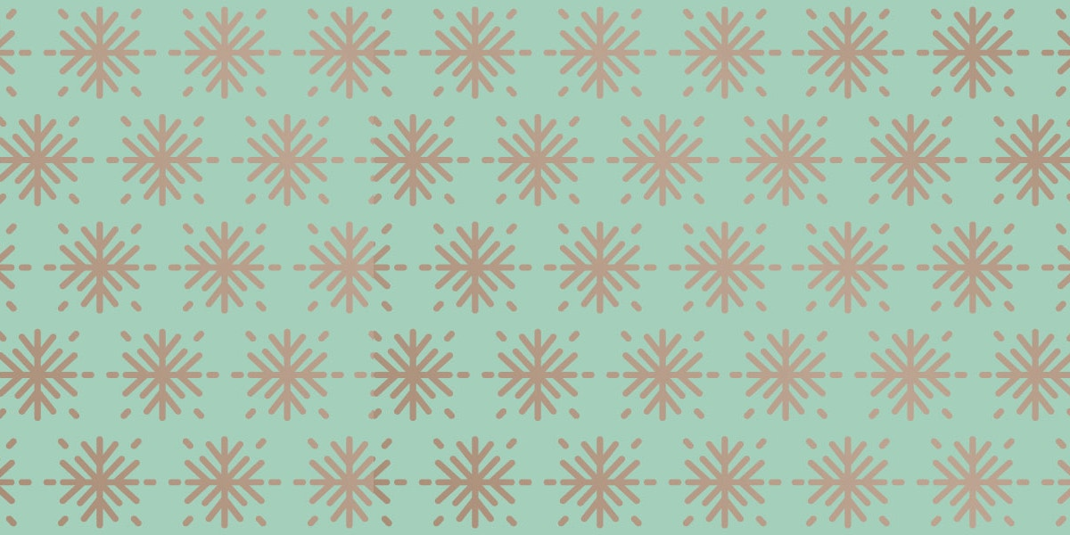 Green Snowflake Pattern