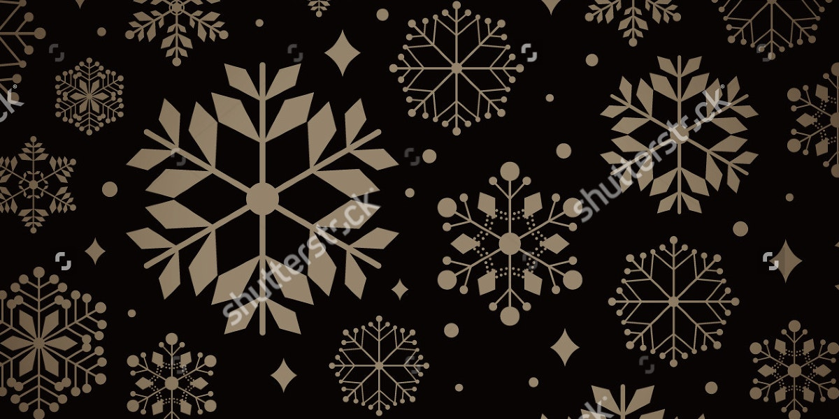 stylish snowflake pattern1