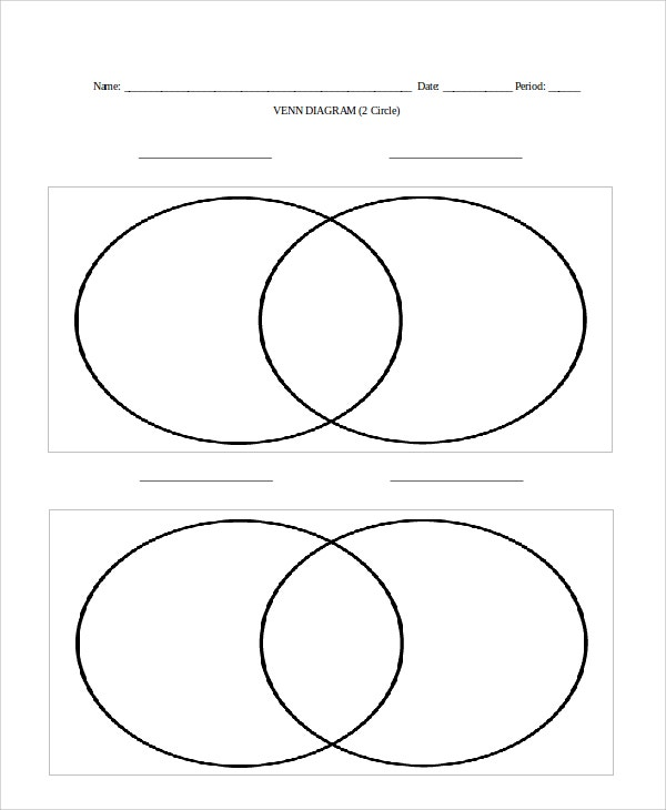 2Circle Venn Diagram Template