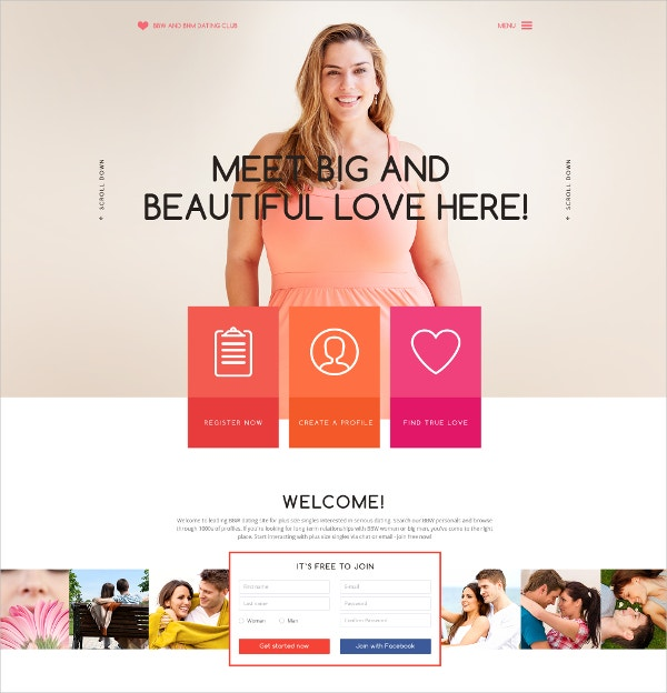 Dating HTML Website Template $75