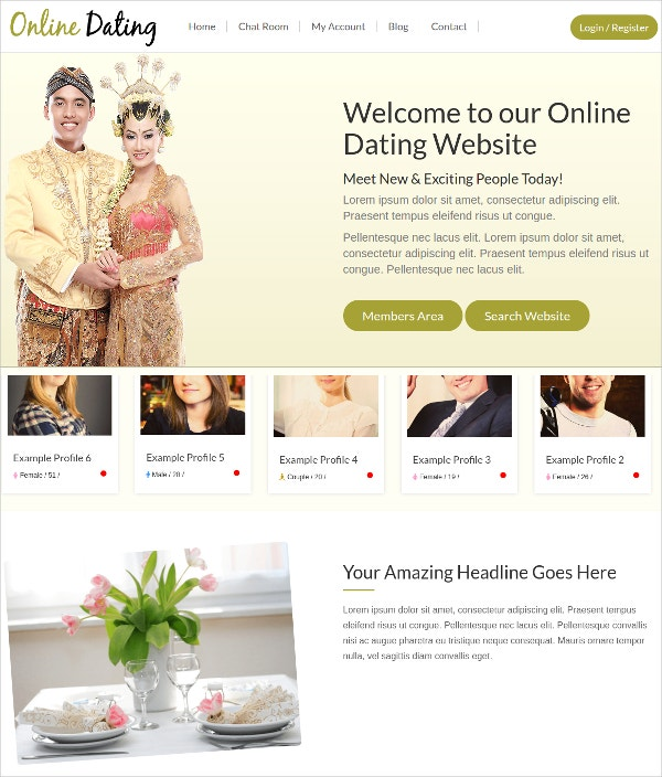 Dating Theme for WordPress Website $79