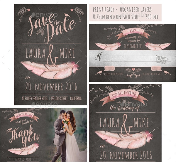 Set of Wedding Invitation Templates