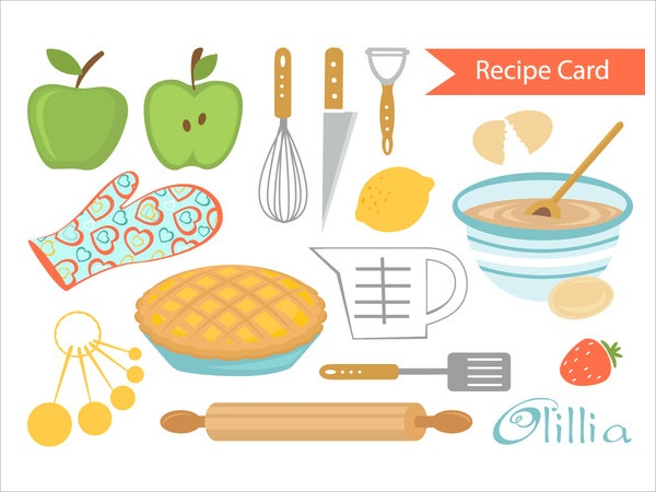 Printable Recipe Card-Pie