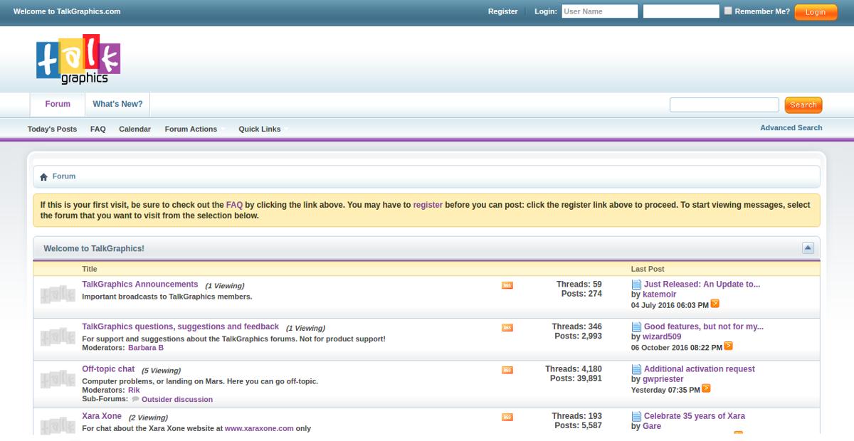 talkgraphics forum